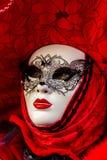 Maschera veneziana di carnevale Fotografia Stock