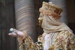 Maschera veneziana di carnevale Fotografia Stock Libera da Diritti