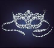 Maschera veneziana fatta dai diamanti. illustrazione vettoriale