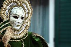 Maschera Veneziana oro Zdjęcia Royalty Free