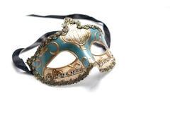 Maschera veneziana su fondo bianco Fotografia Stock