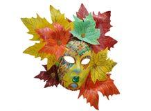 Maschera veneziana su un bianco Immagini Stock Libere da Diritti