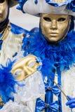 Maschera veneziana tradizionale di carnevale Fotografie Stock Libere da Diritti