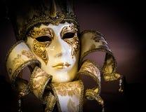 Maschera veneziana variopinta di carnevale Fotografie Stock