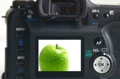 Maschera verde della mela Immagine Stock