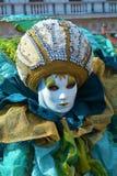 Maschera verde e blu, Venezia, Italia, Europa Immagini Stock Libere da Diritti