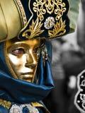 Mascherato in oro Fotografia Stock Libera da Diritti