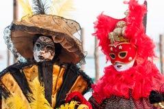 Maschere al carnevale, Venezia, Italia di Venezia Fotografia Stock
