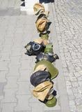 Maschere antigas a Berlino Fotografie Stock