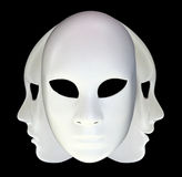 Maschere bianche Immagine Stock Libera da Diritti
