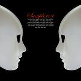 Maschere bianche Fotografia Stock