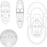 Maschere culturali africane Fotografia Stock Libera da Diritti
