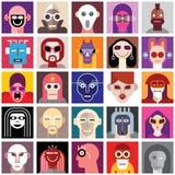Maschere d'uso della gente Fotografie Stock Libere da Diritti