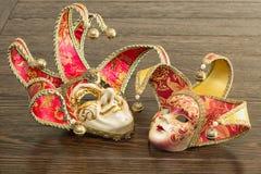Maschere del carnevale Fotografie Stock