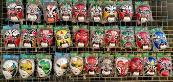 Maschere del cinese tradizionale Fotografia Stock