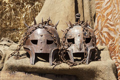Maschere del metallo Fotografie Stock Libere da Diritti