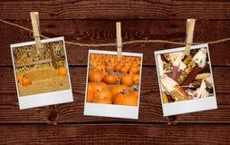 Maschere delle immagini relative di caduta che appendono su una corda fotografie stock