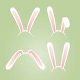Maschere delle orecchie del coniglietto messe Fotografia Stock Libera da Diritti