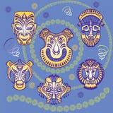 Maschere di carnevale Royalty Illustrazione gratis