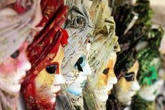 Maschere di carnevale Fotografia Stock