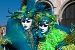 Maschere di carnevale di Venezia Immagini Stock Libere da Diritti