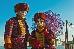 Maschere di carnevale di Venezia Fotografia Stock Libera da Diritti