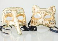 Maschere di carnevale di Venezia immagine stock libera da diritti
