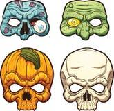 Maschere di Halloween Illustrazione Vettoriale