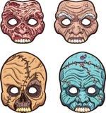 Maschere di Halloween Fotografia Stock