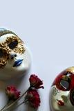 Maschere di protezione veneziane Fotografia Stock