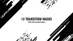 12 maschere futuristiche di transizione Grafici astratti di moto e fondo animato stock footage