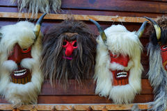 Maschere rumene tradizionali Fotografia Stock Libera da Diritti