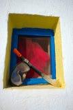 Mascherina & presa d'aria in finestra Fotografia Stock Libera da Diritti