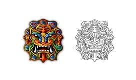 Mascherina antica cinese della tigre di stile Fotografie Stock Libere da Diritti