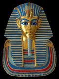 Mascherina antica dell'oro del Pharaoh egiziano Fotografie Stock Libere da Diritti