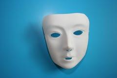 Mascherina bianca immagini stock