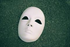 Mascherina bianca Fotografia Stock