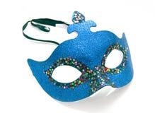 Mascherina blu di carnevale Fotografie Stock Libere da Diritti
