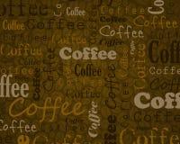 Fondo del testo del caffè Fotografia Stock