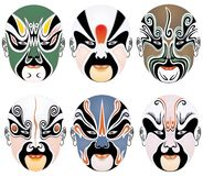 Mascherina del facial di opera di Pechino fotografia stock libera da diritti