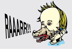 Mascherina del lupo royalty illustrazione gratis