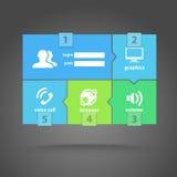 Mascherina dell'interfaccia delle mattonelle di colore di web Fotografia Stock