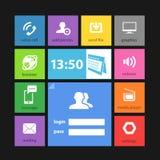 Mascherina dell'interfaccia delle mattonelle di colore di web Fotografie Stock