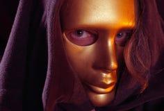 Mascherina dell'oro fotografie stock libere da diritti