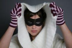 Mascherina della donna Immagini Stock
