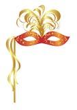 Mascherina di carnevale con le piume Immagine Stock Libera da Diritti