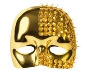 Mascherina di carnevale dell'oro Fotografie Stock