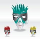 Mascherina di carnevale di colore Illustrazione di Stock