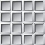 Quadrati di carta della mascherina del fondo Fotografia Stock