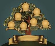 Mascherina di disegno dell'albero genealogico Fotografia Stock